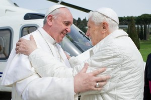 Pope Francis with Benedict